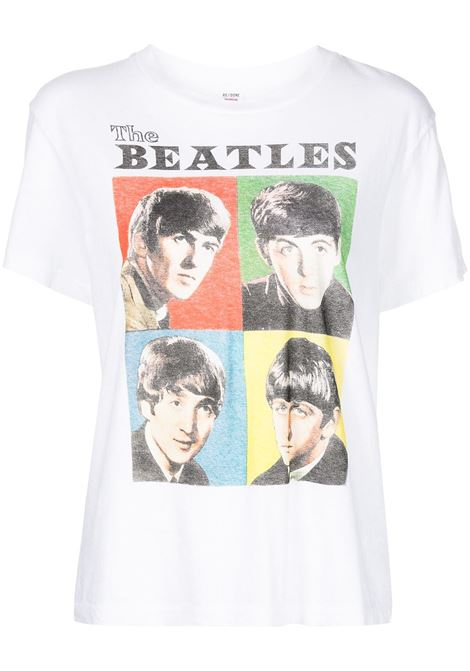 T-shirt con stampa The Beatles in multicolore - donna RE/DONE   0302WLSTE16OPTCWHT