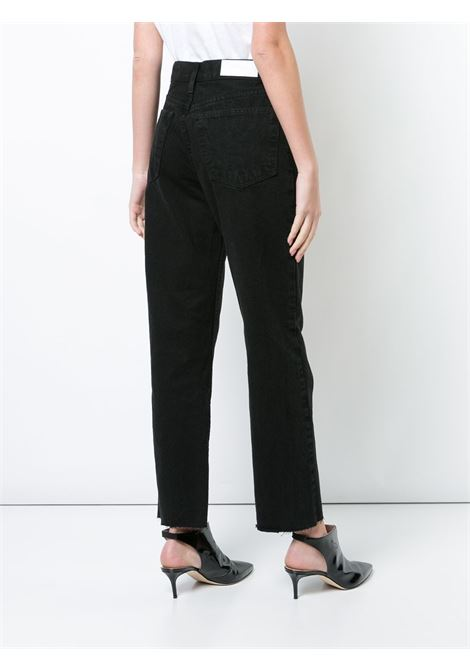 Jeans Stove Pipe a vita alta in nero - donna RE/DONE   1843WSTV27ABLK