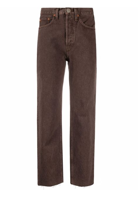 Jeans dritti in marrone - donna RE/DONE   1843WSTV27DWSHDCHCLT