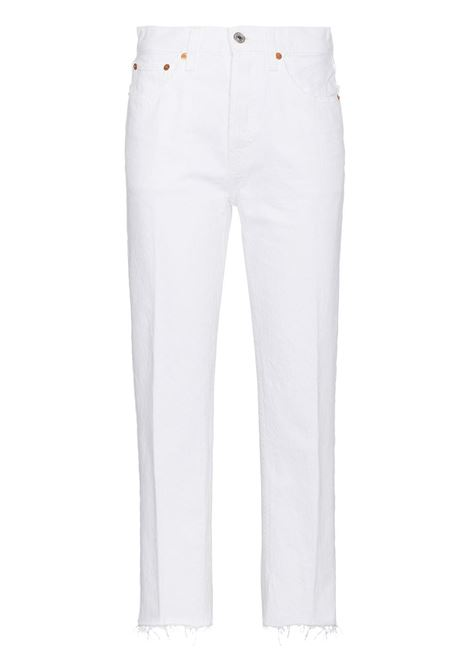 Jeans dritti in bianco - donna RE/DONE   1843WSTV27WHT
