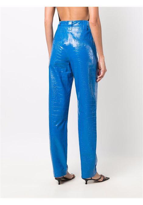 Pantaloni con effetto coccodrillo in blu - donna REMAIN | RM369184043
