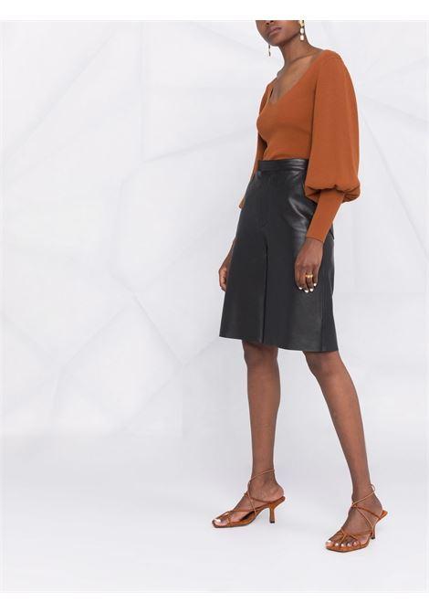 Maglione con scollo ampio in marrone - donna REMAIN | RM552181239