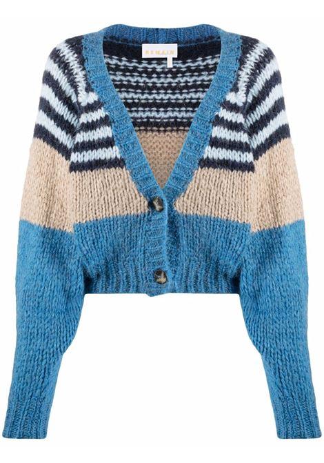 Cardigan con design color-block in  blu e multicolore - donna REMAIN | RM555184043