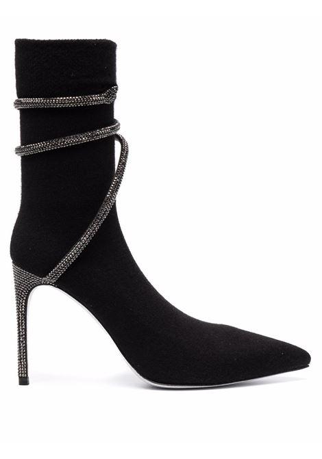 Stivali alti con decorazione in nero - donna RENE CAOVILLA | C11060100CACHV213