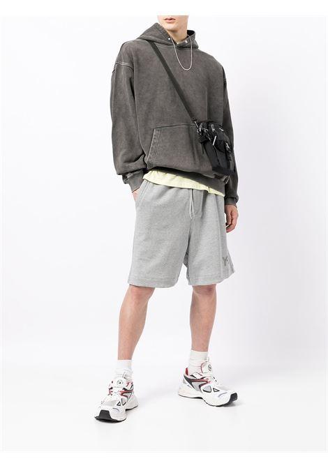 Logo-patch detail sweatshirt in dark grey - men REPRESENT   M0409520