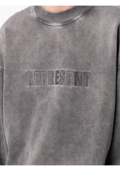 Felpa con ricamo in grigio - uomo REPRESENT | M0414420