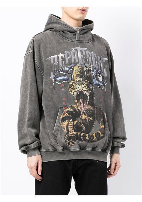 Logo-print sweatshirt in vintage grey - men  REPRESENT   M0414820