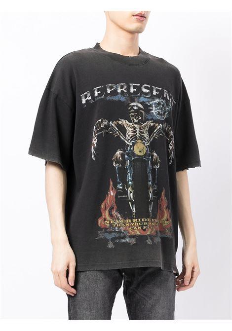 Logo-print T-shirt in black - men  REPRESENT   M0507903