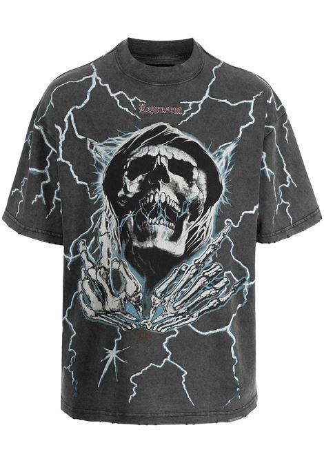 Skull-print T-shirt in grey - men  REPRESENT   M0513120