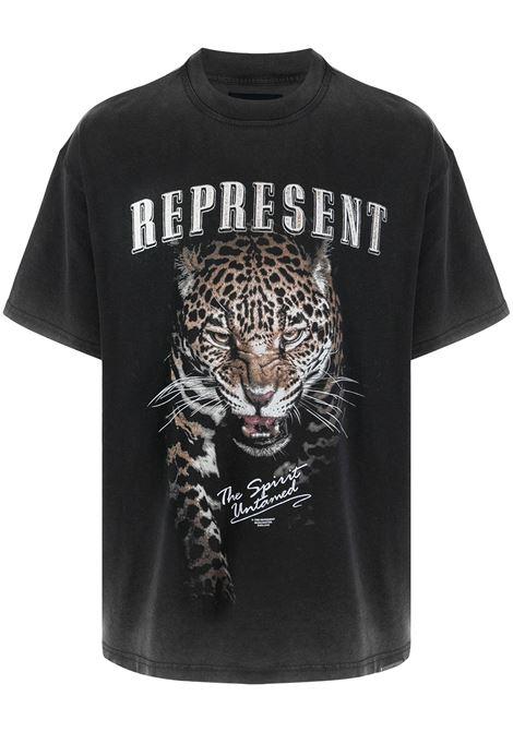 Logo-print T-shirt in black - men  REPRESENT   M0514503