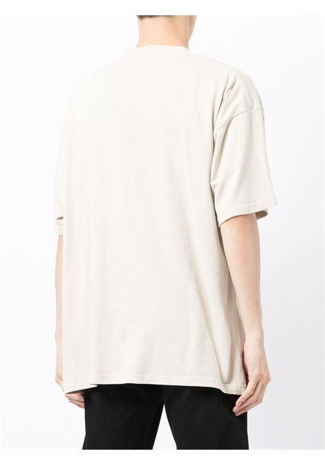 Logo-print T-shirt in beige - men  REPRESENT   M0514702