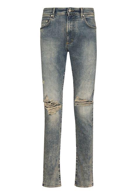 Ripped-detailing skinny jeans in blue - men  REPRESENT | M0704425
