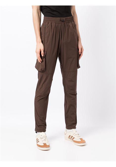 Slim-cut cargo trousers in dark brown - men  REPRESENT   M0808704