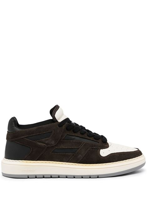 Contrasting-panel sneakers in black and white - uomo REPRESENT   M12031039