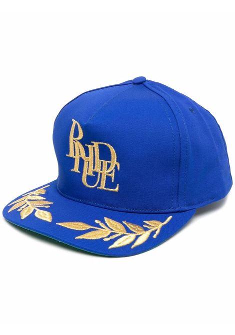 Cappello da baseball con logo in blu - uomo RHUDE | RHFW21HA070421020102