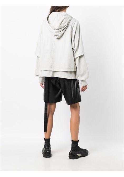 Felpa con cappuccio Hustler in grigio chiaro -donna RICK OWENS DRKSHDW | DS02A3234RN61
