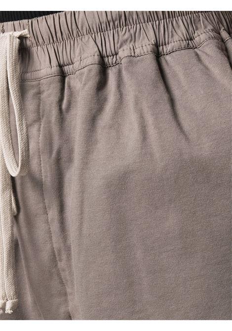 Drawstring organic cotton track shorts in dust grey - women  RICK OWENS DRKSHDW | DS02A3321RIG34
