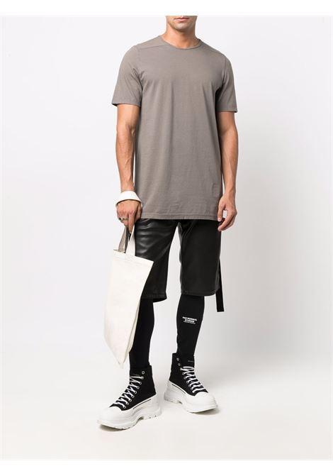 Solid-colour crewneck T-shirt in grey - men  RICK OWENS DRKSHDW   DU02A3250RN34