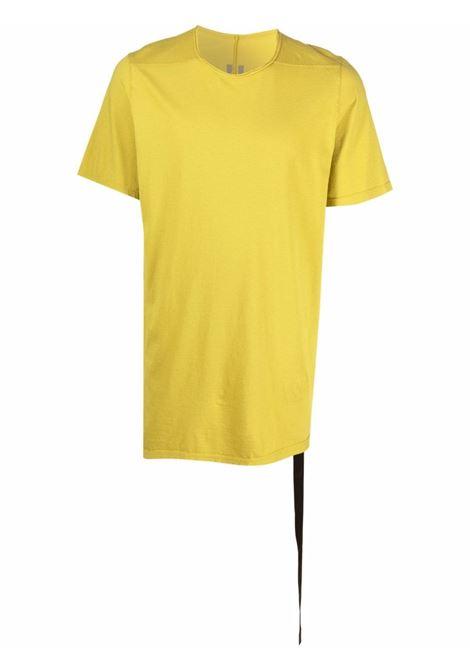 Solid-colour crewneck T-shirt in yellow - men  RICK OWENS DRKSHDW   DU02A3250RN52