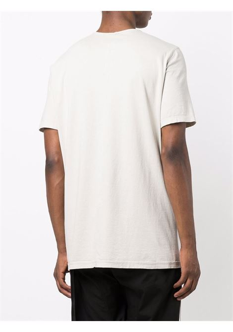 Round neck T-shirt in oyster grey - men  RICK OWENS DRKSHDW   DU02A3250RN61