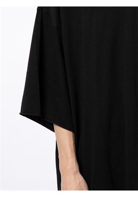Oversize cotton T-shirt in black - men  RICK OWENS DRKSHDW   DU02A3259RN09
