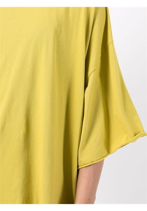 Oversize cotton T-shirt in yellow - men  RICK OWENS DRKSHDW   DU02A3259RN52