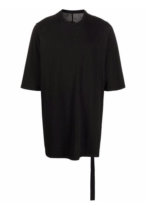 Oversize cotton T-shirt in black - men  RICK OWENS DRKSHDW   DU02A3274RN09