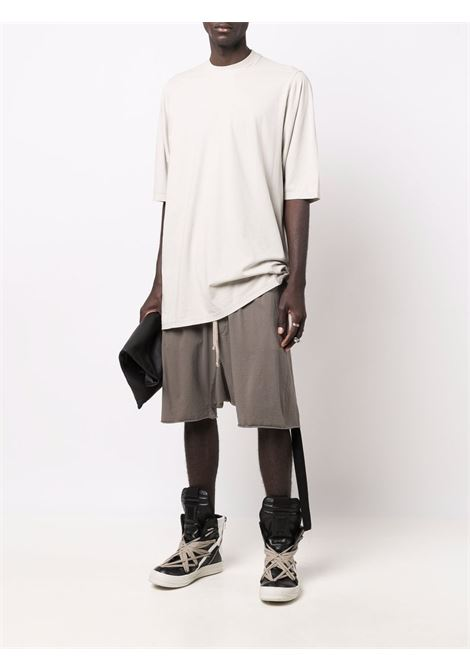 Oversize cotton T-shirt in oyster grey - men  RICK OWENS DRKSHDW   DU02A3274RN61