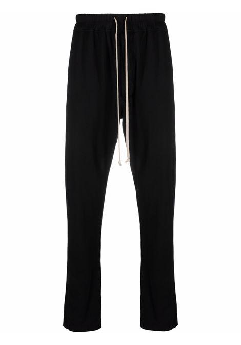 Drawstring-waist organic-cotton trousers in black - men  RICK OWENS DRKSHDW   DU02A3392RN09
