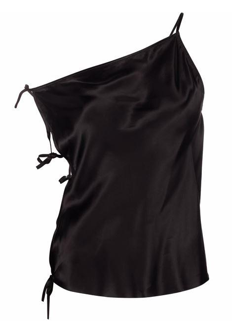 Top monospalla smanicato nero - donna RICK OWENS | RP02A7134O09