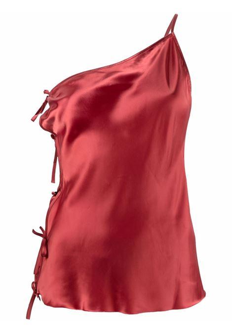 Top monospalla smanicato rosso - donna RICK OWENS | RP02A7134O73