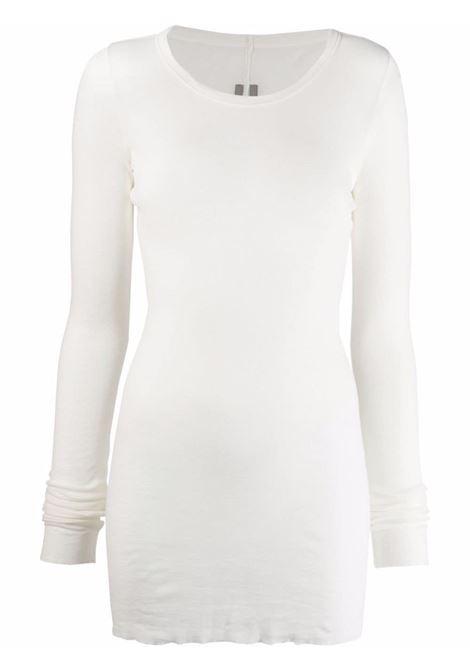 T-shirt a maniche lunghe in maglia fine in bianco - donna RICK OWENS | RP02A7202MR11