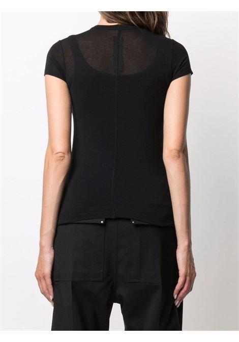 T-shirt con design semi trasparente in nero - donna RICK OWENS | RP02A7235JS09