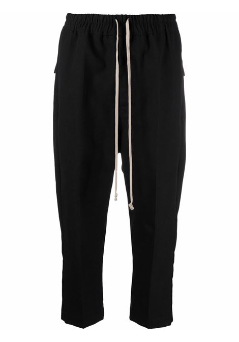 Pantaloni crop con coulisse in nero - donna RICK OWENS | RP02A7303CVR09