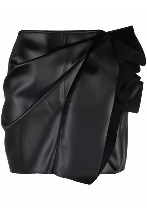 Side-gathered detail skirt in black - women  RICK OWENS | RP02A7340QLX09