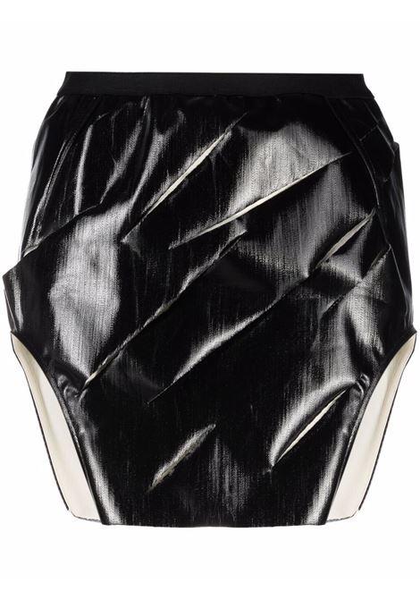 Asymmetric-hem mini skirt in black - women  RICK OWENS | RP02A7347SLQZE0921