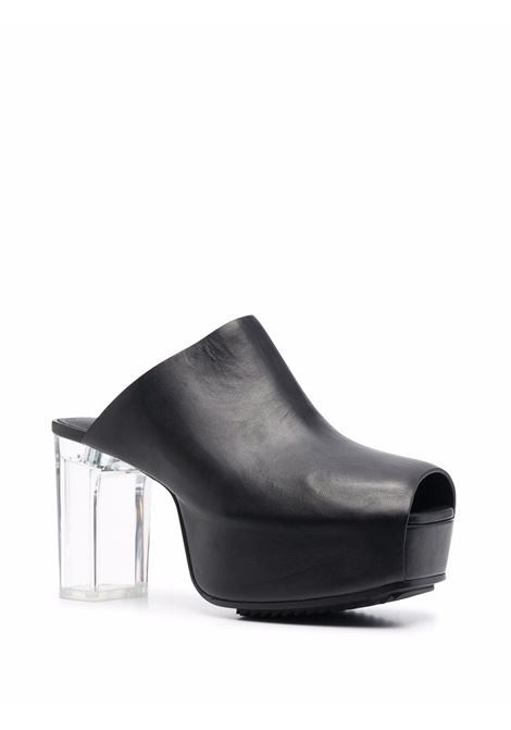 Platform leather mules in black - women  RICK OWENS | RP02A7849LGE090