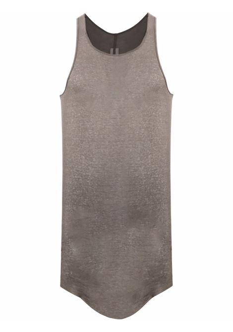 Canotta a costine in grigio - uomo RICK OWENS | RU02A5150MR34