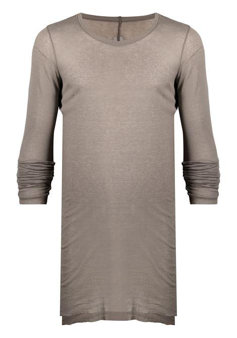 T-shirt a girocollo in grigio - uomo RICK OWENS | RU02A5250MR34