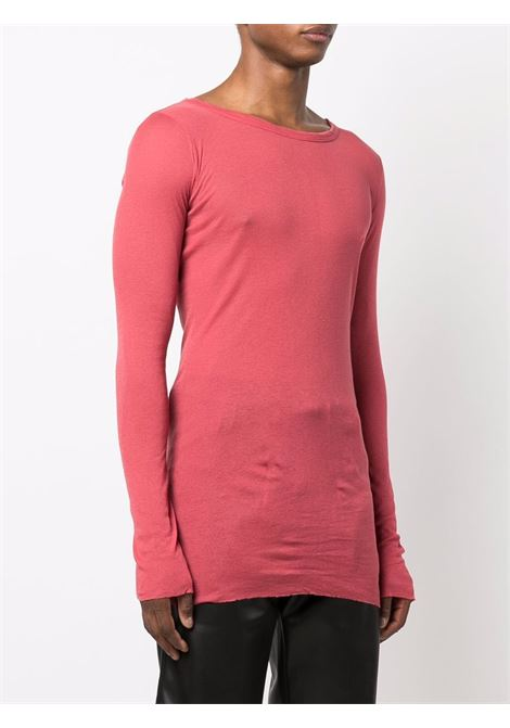 T-shirt a girocollo in rosso - uomo RICK OWENS | RU02A5250MR73