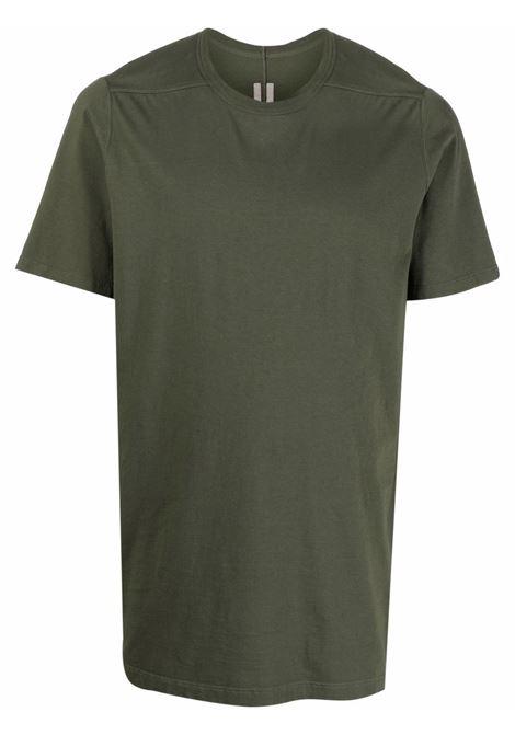 T-shirt classica a maniche corte in verde - uomo RICK OWENS | RU02A5264JA15