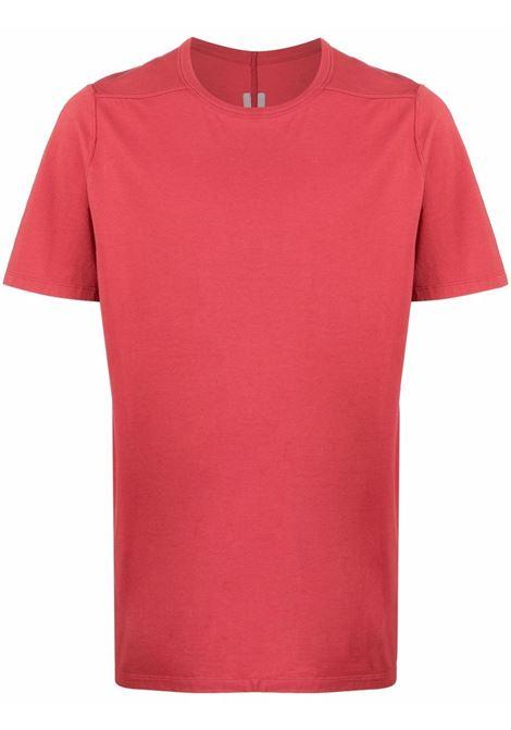 T-shirt classica a maniche corte in rosso - uomo RICK OWENS | RU02A5264JA73