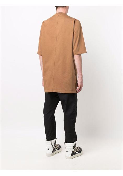 T-shirt kunga a girocollo in marrone - uomo RICK OWENS | RU02A5282BA24