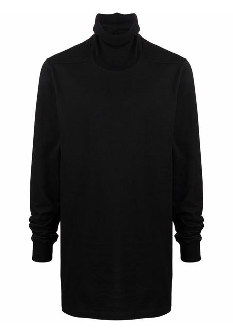 Felpa a collo alto nero - uomo RICK OWENS | RU02A5286BA09