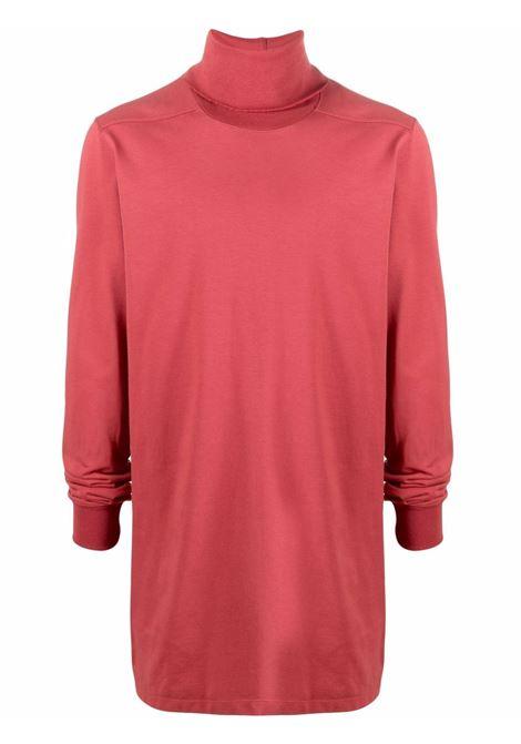 Felpa a collo alto in rosa - uomo RICK OWENS | RU02A5286BA73