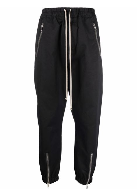 Pantaloni affusolati con zip in nero - uomo RICK OWENS | RU02A5370MU09