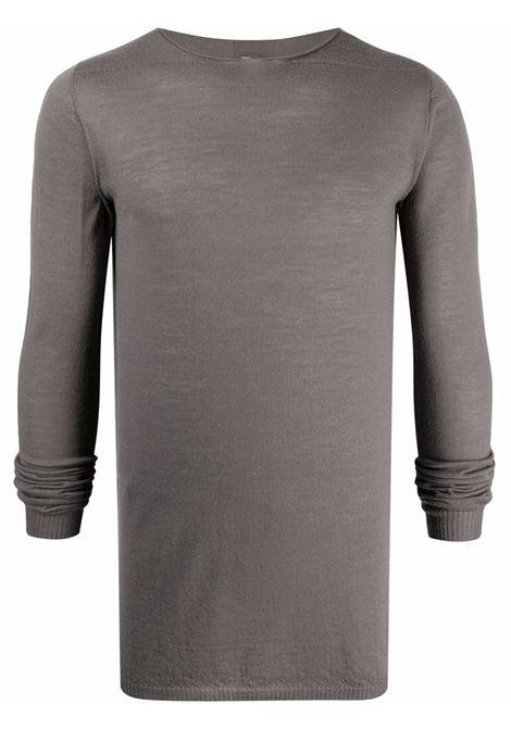 Maglione in maglia fine a coste in grigio - uomo RICK OWENS | RU02A5620M34