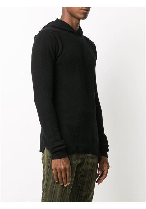 Maglione con cappuccio in nero - uomo RICK OWENS | RU02A5685WSBR09