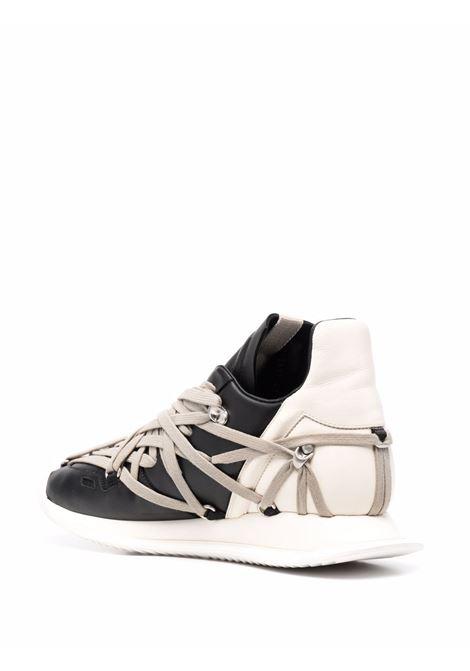 Sneakers bicolore con lacci in nero e bianco - uomo RICK OWENS | RU02A5812LPO9111