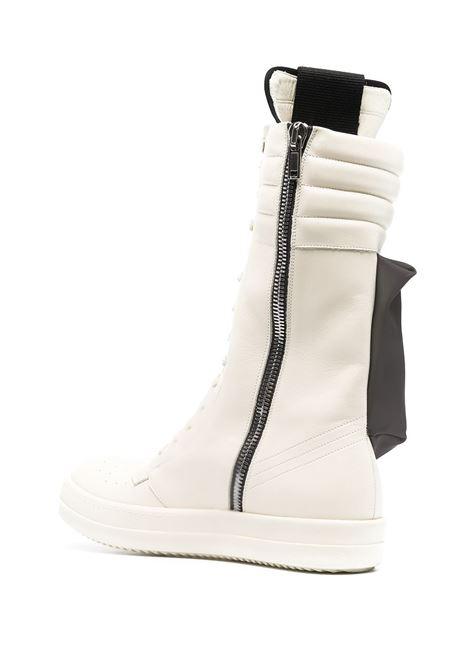 Stivali alti stringati con tasca in bianco - uomo RICK OWENS | RU02A5899LPOVY1191